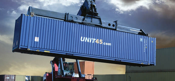Transuniverse 45 ft palletwide container