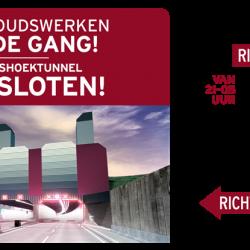 Eerste sluiting voor reeks onderhoudswerken Liefkenshoektunnel op 16 en 17 januari