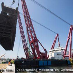 Spectaculair transport bij renovatie Pierre Vandammesluis