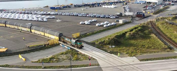 North Sea Port - treinterminal - Volvo Cars