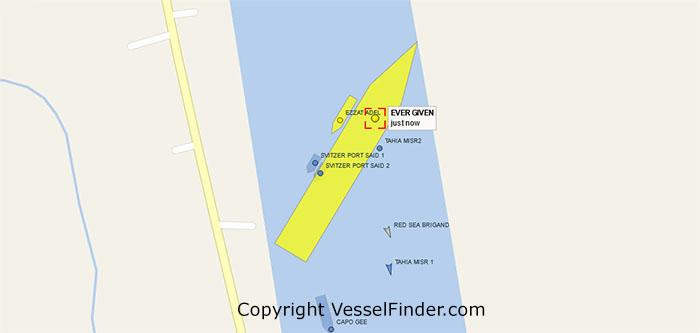 Ever Given - Map Vesselfinder